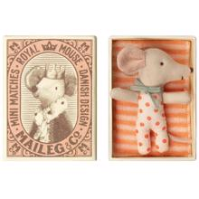 Maileg Baby Mouse Sleepy/Wakey In Box Girl
