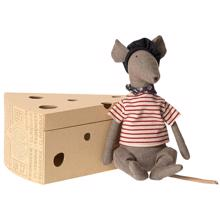 Maileg Rat in Cheesebox Grey