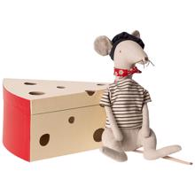 Maileg Rat in Cheesebox Light Grey