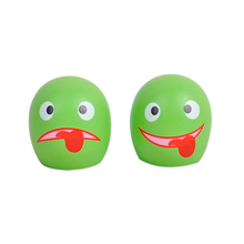 MaMaMeMo Cakes with Faces Green 2 pieces