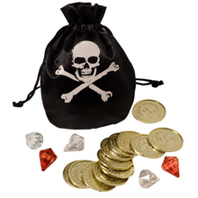MaMaMeMo Pirate's Wallet with Gold Coins