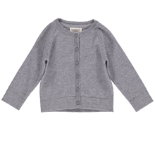 MarMar Grey Melange Totti Light Cotton Wool Cardigan