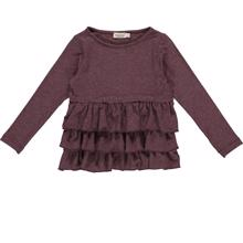 MarMar Dark Plum Lurex Tessie Shirt