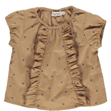 MarMar Caramel Dot Light Cotton Twilla Shirt/Top