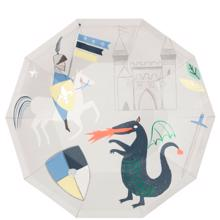 Meri Meri Dragon Knights Plate Large