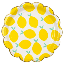 Meri Meri Lemon Plates Large 8 pcs