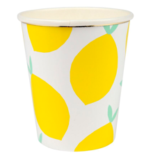 Meri Meri Lemon Pattern Cups 8 pcs