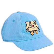 Mini Rodini Cat Cap Light Blue