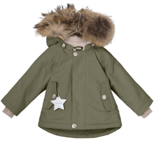 Mini A Ture Wally Fur Jacket Clover Green
