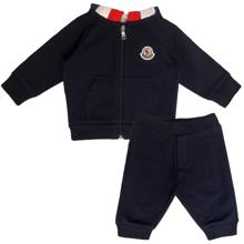 Moncler Completo Maglia Set Cardigan and Trousers Navy