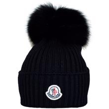 Moncler Fur Hat Black