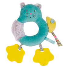 Moulin Roty Ring Rattle Cat