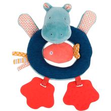 Moulin Roty Ring Rattle Hippo