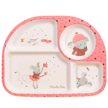 Moulin Roty Bamboomelamin Plate Pink