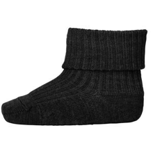 MP Wool Socks Rib Dark Grey Melange