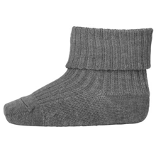 MP Wool Socks Rib Grey Melange