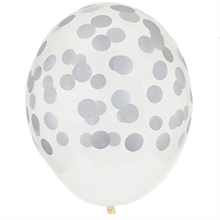 My Little Day Dot Silver Balloons 5 pcs