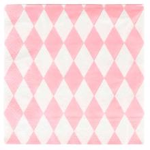 My Little Day 20 Paper Napkins (light pink diamonds)
