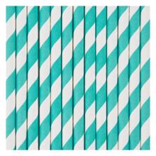 My Little Day 25 Paper Straws (light blue stripes)