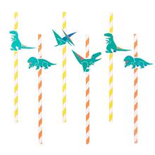 My Little Day Dinosaur Straws 8 Pcs