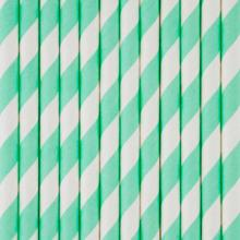 My Little Day Aqua Stripe Straws 8 Pcs