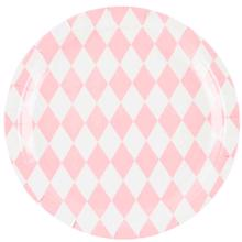 My Little Day 8 Paper plates (light pink diamonds)