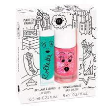 Nailmatic Nailpolish + Lipgloss Duopack New York Sissi/Coco