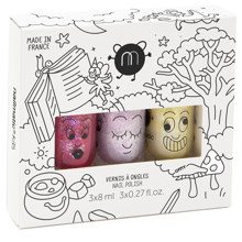 Nailmatic Nail Polish Waterbased 3 Pack Magic Forest Sissi/Lala/Lulu