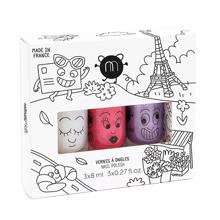 Nailmatic Nail Polish Water-based 3 Pack City Super/Kitty/Piglou