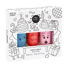 Nailmatic Nail Polish Water-based 3 Pack Party Freezy/Dori/Cookie