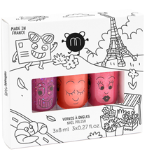 Nailmatic Nail Polish Water-based 3 Pack  Pack City 3 Kitty/Dori/Sheepy