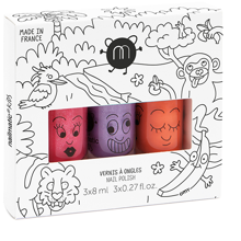 Nailmatic Nail Polish Water-based 3 Pack Jungle 3 Kitty/Dori/Piglou