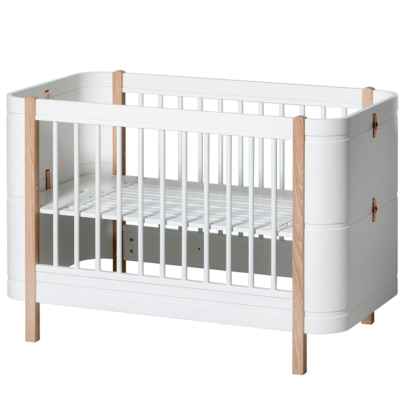 seng baby Oliver Furniture Wood Mini+ White/Oak seng baby