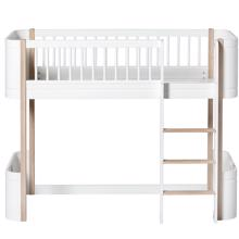 Oliver Furniture Wood Mini+ Medium High Bed White/Oak