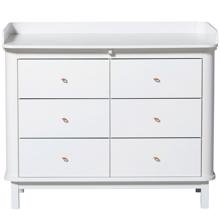 Oliver Furniture Wood Nursery Dresser w. 6 Draws White