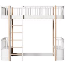 Oliver Furniture Wood Bunk Bed w. Ladder White/Oak