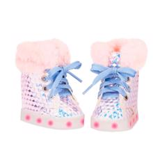 Our Generation Doll Shoes w. Light Rose Glitter
