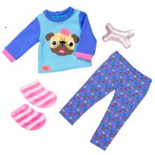 Our Generation Dollwear - Pyjamas w. Bulldog
