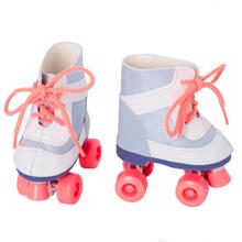 Our Generation Doll Shoes - Rollerskates Blue