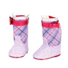 Our Generation Doll Shoes - Boots w. Glitter Purple