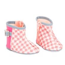 Our Generation Doll Shoes - Checked Boots Pink