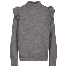 Petit by Sofie Schnoor Grey Melange Knit Blouse