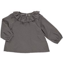 Pierrot la Lune Martha Tunika Grey/Black Flower Print