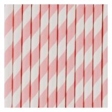 My Little Day 25 Paper Straws (light pink stripes)