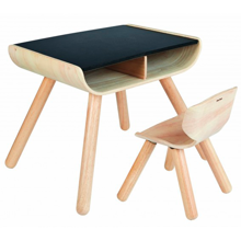 PlanToys Table and Chair Black