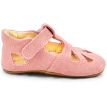 Pom Pom Indoor Shoes Velcro Suede Rose