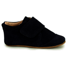 Pom Pom Indoor Shoe Velcro Black Suede