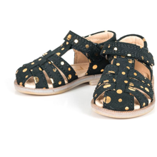 Pom Pom Sandal Peach Gold Dot