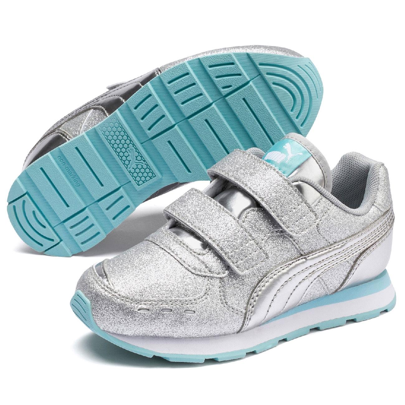 Puma Vista Glitz V PS Sneakers Silver/Gulf