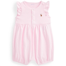 Ralph Lauren Baby Girl Shortall Polo Carmel Pink/White